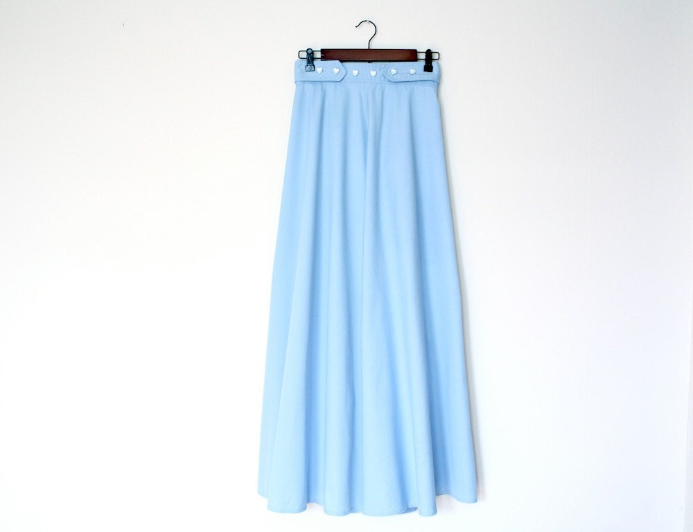 Light Blue Maxi Skirt Dress Ala