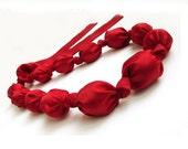 Tutorial Fabric necklace  PDF