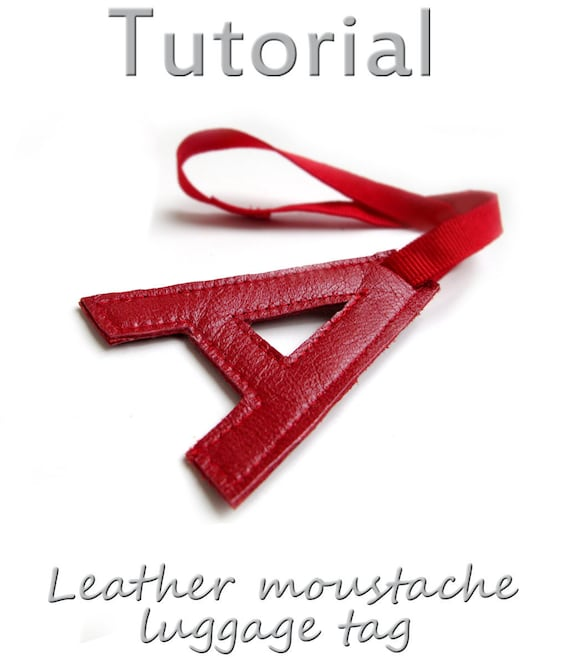 Tutorial Personalized letter leather luggage tag PDF