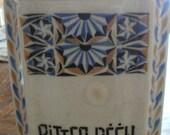 "Antique Belgian ""Elli"" Tall Bitter Peen Porcelain Canister"