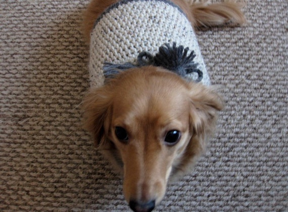 Oatmeal and Gray Acrylic Sweater for Small Dog or Cat
