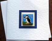 Puffin Card, Birthday Card, Greeting card, Blank Card, Magnet Card, Thankyou Card, Bird Card