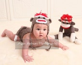 SOCK MONKEY Set Prop INCLUDES Diaper Cover
