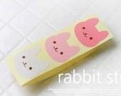 Pink Smile Rabbit Point Stickers (36 pcs)