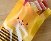 Yellow Cute Bear Bags - M (10 bags)