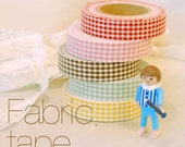 Gingham Check Adhesive Fabric Tape 0.6 inch