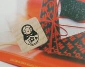 Russian Tumbling Doll Matryoshka Stamp - S (0.75 x 0.75in)