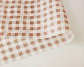 Brown Check Wax Paper (25 sheets)