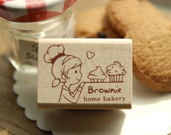 Brownie Home Bakery Stamp (1.6 x 1.2in)
