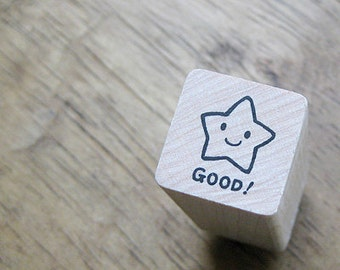 Smile Star Good Stamp (0.75 x 0.75in)