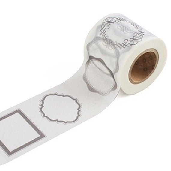 Frame label decor masking tape silver by wonderlandroom on etsy - Decoration masking tape ...