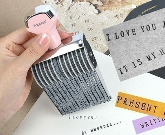 Perfect Alphabet Rolling Rubber Stamp