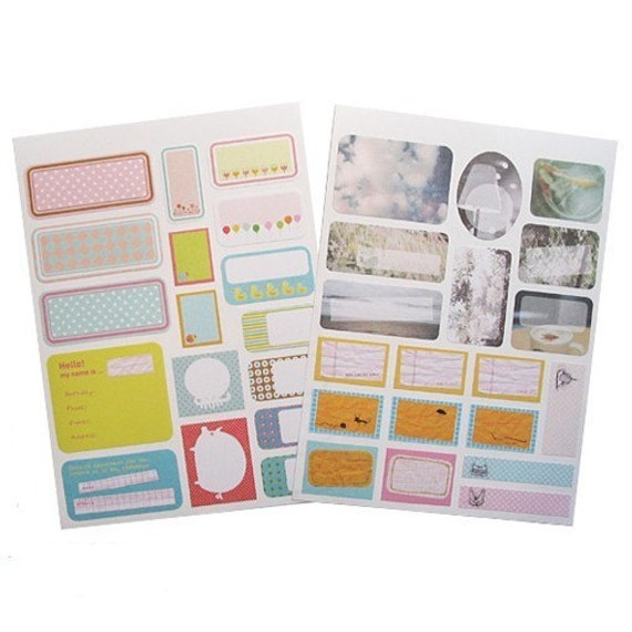 Pretty Index Label Sticker Set (36 pieces)
