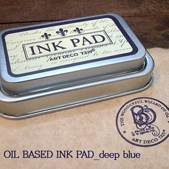 Oil Based Ink Pad - Deep BLUE