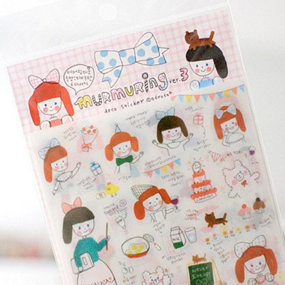 Murmuring Transparent decor Stickers (6 sheets)
