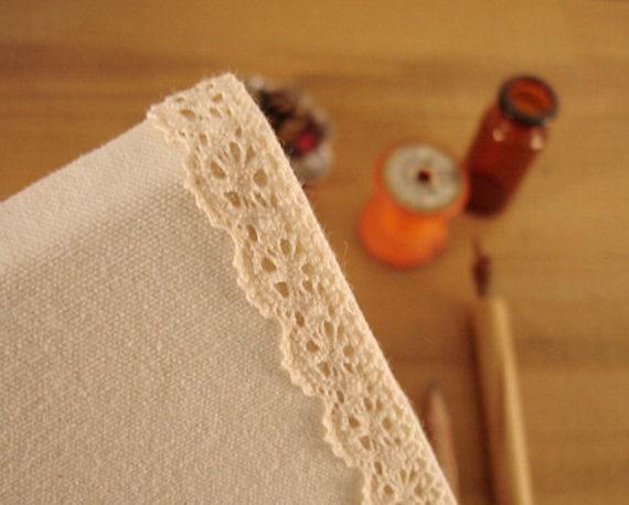 Romantic Lace Fabric Deco Tape - APRICOT 0.5 inch (adhesive)