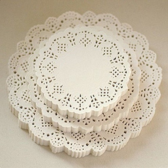 Flower Lace Paper Doilies 4.5 inch (200 sheets)