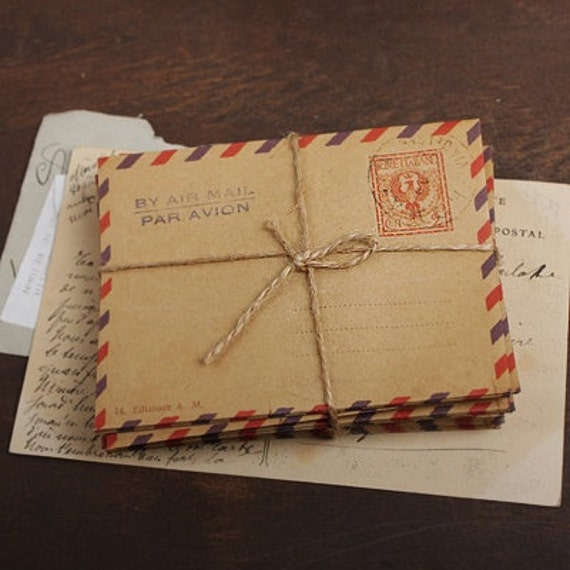 mini Airmail Kraft Envelopes - ITALY (10 sheets)