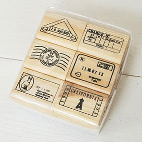 Journey the World Postmark Stamps set - A (6 stamps)