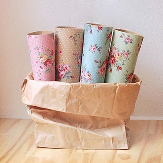 4 SET - French Rose Reform Fabric Stickers Set (different colors)