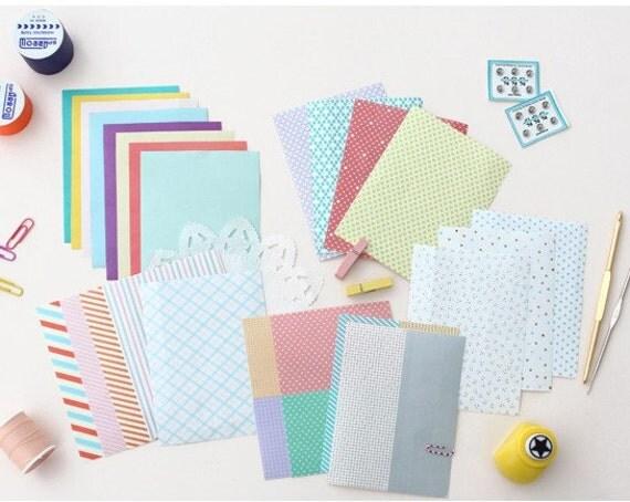 Lovely Pattern Masking Tape Sticker Set (24 sheets, pvc pocket)
