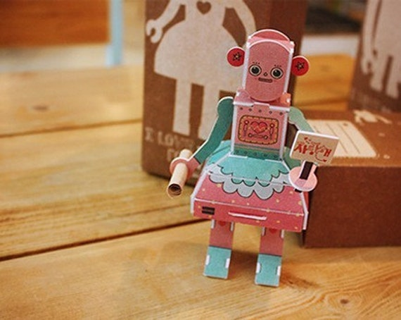 Message Robot Pink