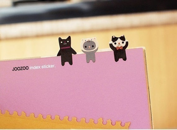 Black Zoo Index Sticker Set (2 sheets)