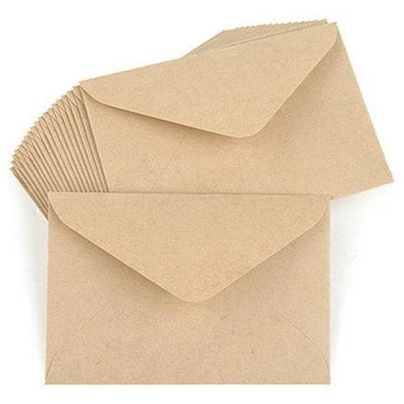 Simple Kraft Envelopes Set - LARGE (15 sheets)