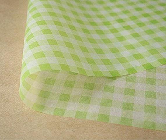 Green Check Wax Paper (25 sheets)