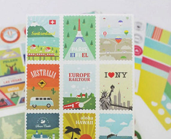 Daily Decor Sticker set - Travel type (12 sheets)