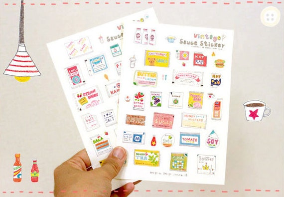 Hand-picture Sweet Sauce Stickers (2 sheets)