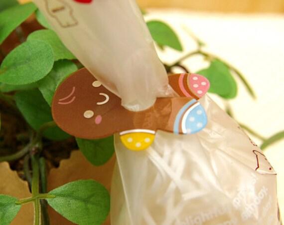 Gingerbread Brown Clear Ties (20 pcs)