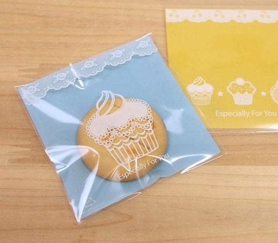 Blue Muffin Self Sealing Cellophane Bags (30 bags)