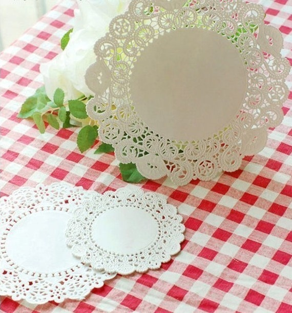 Romantic Ivy Lace Paper Doilies 6.5 inch (50 sheets)