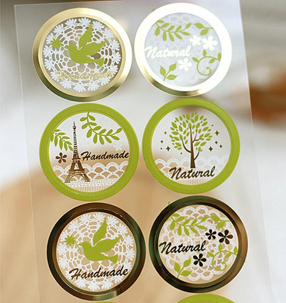 Natural Lace Sticker for Hand-Made Products (16 EA)