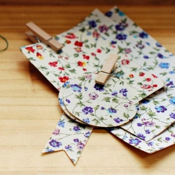 French Flower Reform Fabric Sticker - VIOLET