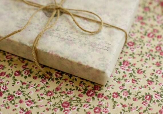 Antique Flower Reform Fabric Sticker - BEIGE