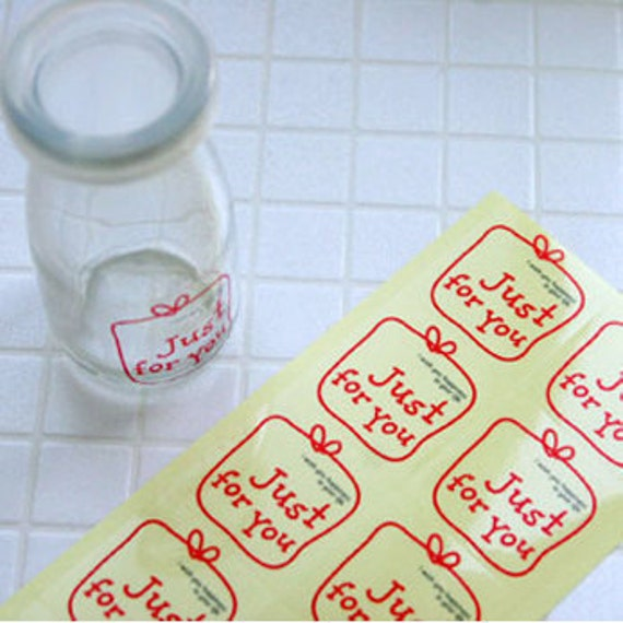 Just For You Red Line Point Stickers (40 pcs)