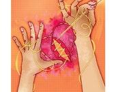Seven Stitches - Giclee Print