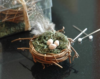 Nest Boutonniere Love Bird Best Man Groomsmen Groom