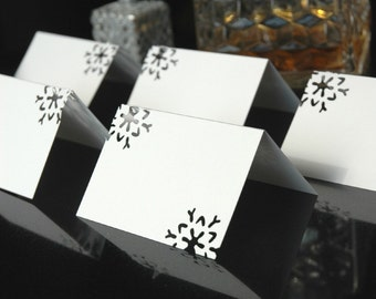 Snowflake Place cards {set of 15}