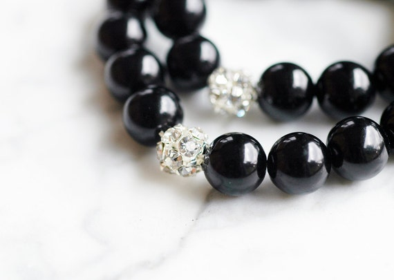 Clarissa Silver Rhinestone Bridal Bracelet WEDDING Bridesmaids Custom Pearl Jewelry