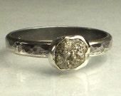 Rough Uncut Black Diamond Ring