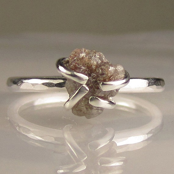 SALE - Rough Diamond Ring in Sterling 20% OFF