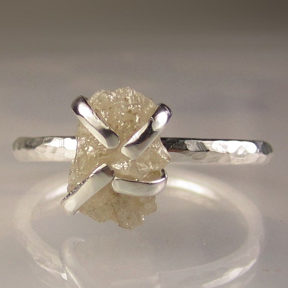 Rough Diamond Ring in Sterling - 2.5CTS