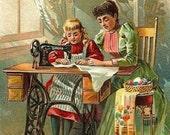 Singer Sewing Machine Digital Art Image Downloadable Printable