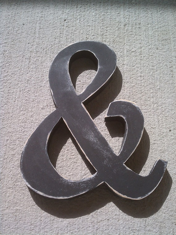 Small Distressed Ampersand Sign Perfect for Weddings