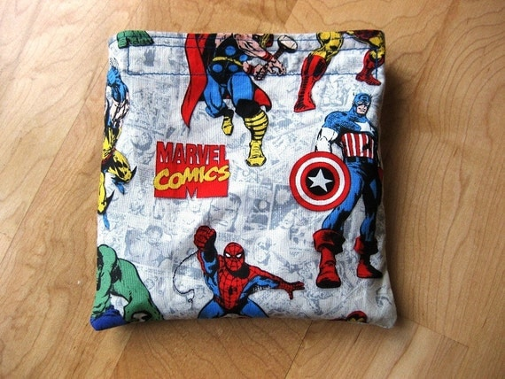 Marvel Comics Reusable Snack Sandwich Bag Baggie with water resistant lining