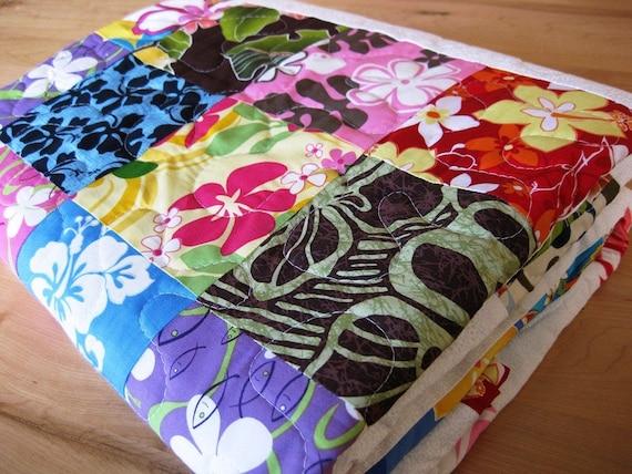 Sweet Aloha Handmade Quilt