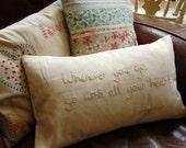 Hand Embroidered Rectangular Cushion